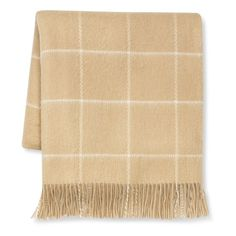 Wool Windowpane Throw, Camel  99.99