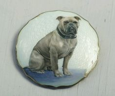 Aksel Holmsen Vintage Norwegian Sterling Silver and Enamel Dog Brooch