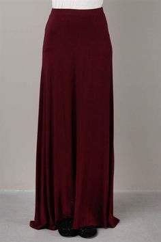 Favorite maxi skirt in burgundy http://www.swell.com/Girls-SWELL ...