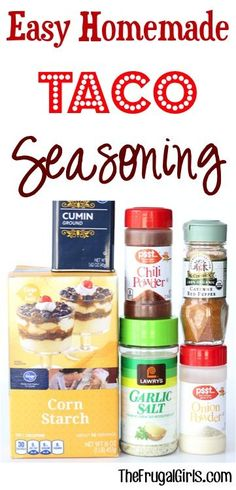 Easy Homemade Taco Seasoning Recipe! ~ from TheFrugalGirls.com ~ skip a trip to the store and make your own seasonings... SO simple and you'll love the flavor! #recipes #thefrugalgirls