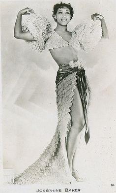 Josephine Baker (Born: Freda Josephine McDonald - June 3, 1906 - St. Louis, MO, USA; Died: April 12, 1975 - Paris, Île-de-France, France)