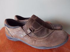 Earth Origins Joy Slip on Loafer womsens hoes size 6.5 leather brown, fast ship #EarthOrigins #LoafersMoccasins #Casual