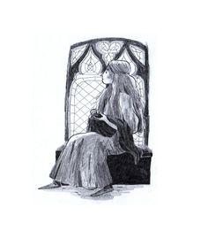 Black and white Illustrations for 'Tam Lin'