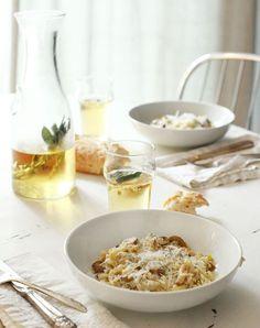 ψO : Risotto with Mushrooms, Cippollini Onions and Roasted Chestnuts