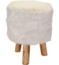 29,90 EUR | Puujakkara valkoisella karvapäällysteellä.<BR><ul><li>Valittavissa koot: 39 cm ja 70 cm</li></ul>