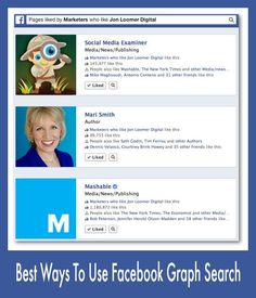 Facebook graph search by occupation How to Use Facebook Graph Search to Learn About Your Fans  #ZooSeo