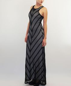 Another great find on #zulily! Black Sheer Racerback Maxi Dress #zulilyfinds