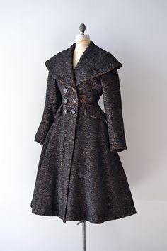 vintage 1950s coat / wool 50s princess coat / Sturm und Drang.