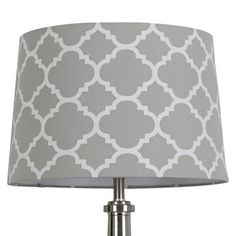 Threshold™ Flocked Ogee Lamp Shade - Gray Marble