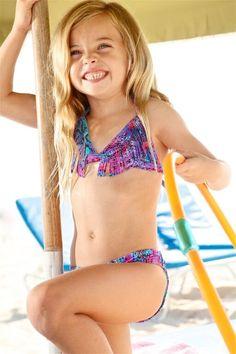 Peixoto Kids Mai - Designer Kids Snake Fringe Bikini Set. The Peixoto Mai bikini set features a bold snake print and designer fringe. The use of this designer print on a fringe top makes it an extra fun and fabulous bikini for a stylish girl. #designerkids