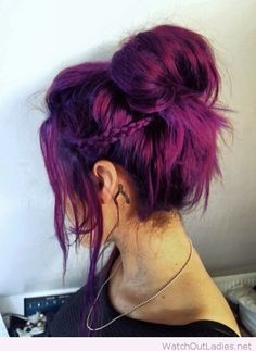 Plum hair color inspire