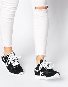 Imagen 1 de Zapatillas de deporte en blanco y negro de nailon CL de Reebok