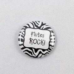 Band Rocks - Pinback Button or Magnet - Flute - Guitar - Drummer - Mellophone - You Pick
