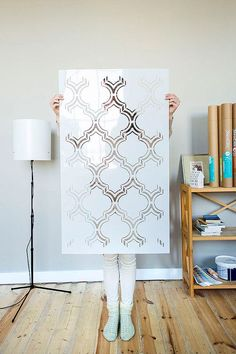 New! Moroccan Double Wall stencil large, Royal Moroccan Wall Stencil for DIY…