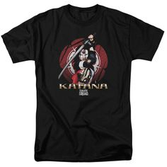 Suicide Squad Katana Flower Adult Tee - Officially Licensed - High Quality - 100% Pre-Shrunk High Quality Cotton / Fabric Weight 5.5 oz. - Seamless 1x1 Rib Collar w/Two-Needle Cover Stitching on Front