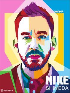 Mike Shinoda wpap by cs4rtdsgn on DeviantArt