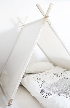 Little tent! Maybe with a different sleeping bag...but cute for a rainy day!