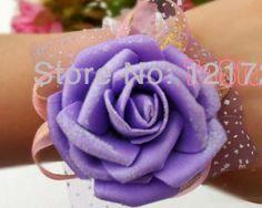 Prom ramillete de muñeca ramillete de muñeca flor rosa claro Accesorios de dama de honor en la decoración de la boda ( 10 pedazos / porción ) en Flores y Guirnaldas Decorativas de Casa y Jardín en AliExpress.com | Alibaba Group