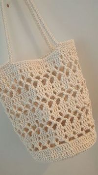 Marvelous Crochet A Shell Stitch Purse Bag Ideas. Wonderful Crochet A Shell Stitch Purse Bag Ideas. Crochet Market Bag, Crochet Tote, Crochet Handbags, Crochet Purses, Love Crochet, Crochet Crafts, Crochet Projects, Knit Crochet, Crochet Summer