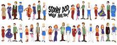 Scooby Doo gang through the decades - creativeJAW | Design & illustration by Julia Wytrazek #ScoobyDoo