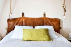 Tête de lit en cuir via Goodmoods