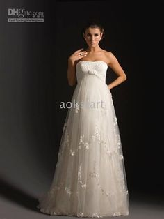 Wholesale Tulle Maternity/Plus Size Wedding Dress amp;amp;amp; Bridal Gown A015, Free shipping, $98.1~124.2/Piece   DHgate