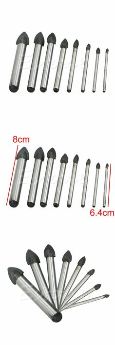 [Visit to Buy] A96 3/4/5/6/8/10/12/14mm Porcelain Spear Head Tile Glass Ceramic Marble Drill Bits#XY# #Advertisement