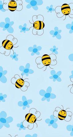 YM p Honey Bee Wallpapers Awesome p Honey Bee Cool Wallpaper, Pattern Wallpaper, Wallpaper Backgrounds, Cartoon Bee, Cute Cartoon, Cellphone Wallpaper, Iphone Wallpaper, Pattern Art, Print Patterns