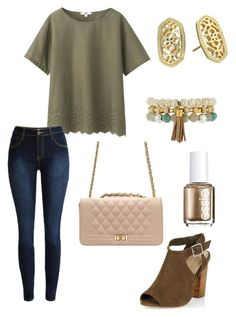 """""""Untitled #109"""" by kmysoccer on Polyvore featuring Uniqlo, New Look, Kendra Scott, Essie and Panacea"""