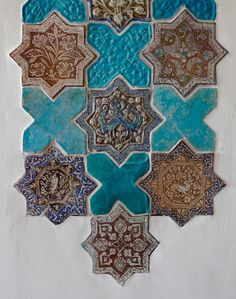 Iranian star and cross tiles from the Mihrab Room at Shangri La