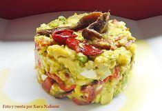 Ensalada de Patatas, aguacates, pimientos y anchoas
