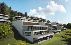 Visualisierungen Architektur: STOMEO Architektur Visualisierung - Zürich Style At Home, Luxury Homes, Mansions, House Styles, 360 Grad, Houses, Home Decor, Terrace, Architecture Visualization