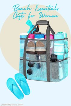 Mesh Beach Bags and Totes for Women, MOVTOTOP Oversized Mesh Beach Bags of 39L ,Beach #affiliatelink #beachbag #beachtote #beachwear Amazon Home Decor, Sand Toys, Beach Toys, Family Picnic, Bathing Suit Cover Up, Beachwear For Women, Tote Purse, Zipper Pouch, Gifts For Women