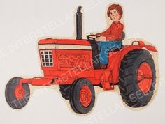 Rare! ORIGINAL 1970's SUNSHINE FAMILY FARM TRACTOR CONCEPT ART! Vintage Dolls 5