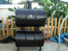 ▶ Black homemade BBQ Smoker # 2 - YouTube