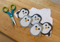 Five Little Penguins Flannel Board Stories, Felt Board Stories, Felt Stories, Flannel Boards, Art For Kids, Crafts For Kids, Felt Finger Puppets, Toddler Activities, Sequencing Activities