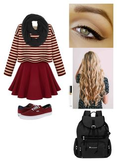 """Winter school outfit"" by jintry ❤ liked on Polyvore featuring Vans, Paula Bianco and Sherpani"