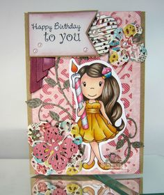 Ellie with Candle for the Paper Nest Dolls, February 2016, created by Leah Tees, odetopaper.blogspot.ca
