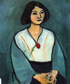 Woman in Green with a Carnation- 1909