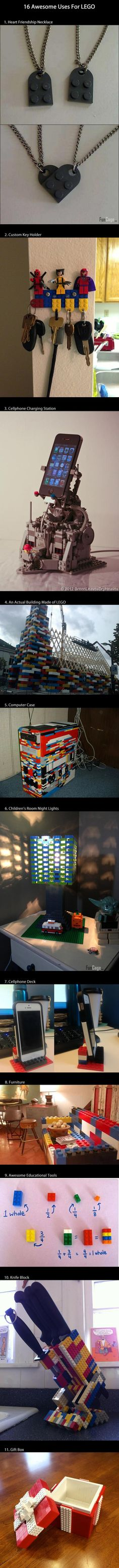 11 awesome uses for lego
