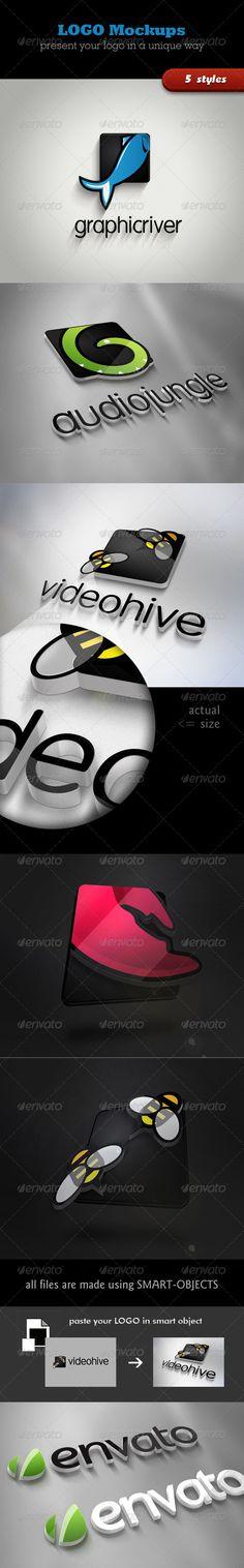 3D Logo Mockups — Photoshop PSD #metal #mockup • Available here → https://graphicriver.net/item/3d-logo-mockups/3422732?ref=pxcr