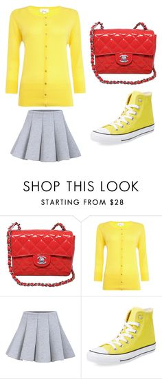 """""""Outfit Idea by Polyvore Remix"""" by polyvore-remix ❤ liked on Polyvore featuring Chanel, Linea and Converse"""