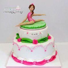 Bat Mitzvah cake gymnast