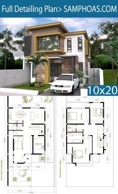 But why a maids room? 4 Bedroom Modern Home Plan Size - SamPhoas Plansearch Free House Design, Bungalow House Design, Small House Design, Modern House Design, Duplex House Plans, Dream House Plans, Small House Plans, House Floor Plans, Model House Plan