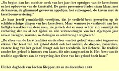 Quote. Kerst 1933 - Citaat uit dagboek Jochen Klepper