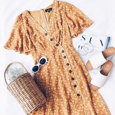 #outfits #yellow #dresses #fashion