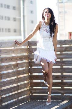 Sissy à la mode: White dress for a wedding- Barcelona
