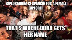 Exploradora is spanish for a female explorer Thats where Dor - Sudden Clarity Clarence