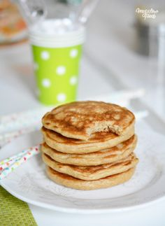 Pancake Healthy - Welcome Pikide Breakfast Pancakes, Breakfast Snacks, Breakfast Recipes, Overnight Oats Chia, Diet Recipes, Healthy Recipes, Granola, Creme, Easy Meals