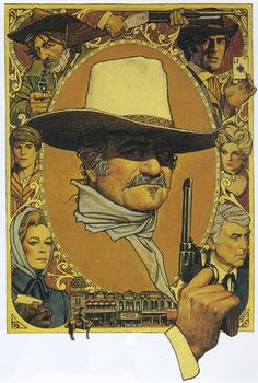 "Richard Amsel's original art for the ""The Shootist"" (1976) movie poster"